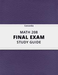[MATH 208] - Final Exam Guide - Comprehensive Notes fot the exam (68 pages long!)