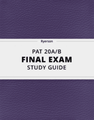 [PAT 20A/B] - Final Exam Guide - Comprehensive Notes fot the exam (110 pages long!)