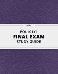 [POL101Y1] - Final Exam Guide - Ultimate 40 pages long Study Guide!