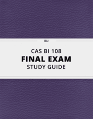 [CAS BI 108] - Final Exam Guide - Everything you need to know! (88 pages long)