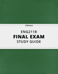 [ENG2118] - Final Exam Guide - Comprehensive Notes fot the exam (54 pages long!)