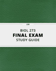 [BIOL 273] - Final Exam Guide - Everything you need to know! (87 pages long)