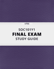 [SOC101Y1] - Final Exam Guide - Everything you need to know! (68 pages long)