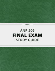 [ANP 206] - Final Exam Guide - Ultimate 74 pages long Study Guide!