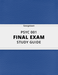 [PSYC 001] - Final Exam Guide - Ultimate 28 pages long Study Guide!