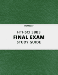 [HTHSCI 3BB3] - Final Exam Guide - Comprehensive Notes fot the exam (36 pages long!)