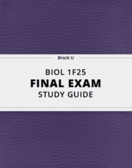 [BIOL 1F25] - Final Exam Guide - Ultimate 50 pages long Study Guide!