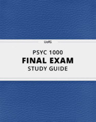 [PSYC 1000] - Final Exam Guide - Comprehensive Notes fot the exam (114 pages long!)