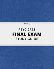 [PSYC 2F23] - Final Exam Guide - Ultimate 31 pages long Study Guide!