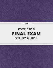 [PSYC 1010] - Final Exam Guide - Comprehensive Notes fot the exam (65 pages long!)