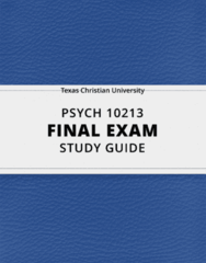 [PSYCH 10213] - Final Exam Guide - Comprehensive Notes fot the exam (102 pages long!)
