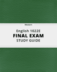 [English 1022E] - Final Exam Guide - Ultimate 55 pages long Study Guide!