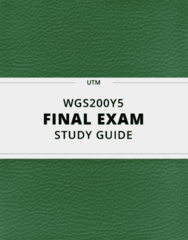[WGS200Y5] - Final Exam Guide - Comprehensive Notes fot the exam (33 pages long!)