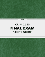 [CRIM 2650] - Final Exam Guide - Comprehensive Notes fot the exam (24 pages long!)