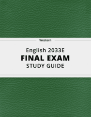 [English 2033E] - Final Exam Guide - Ultimate 64 pages long Study Guide!