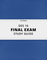 [DES 16] - Final Exam Guide - Comprehensive Notes fot the exam (23 pages long!)