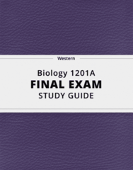 [Biology 1201A] - Final Exam Guide - Everything you need to know! (70 pages long)