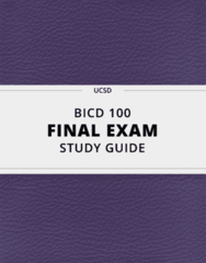 [BICD 100] - Final Exam Guide - Ultimate 23 pages long Study Guide!