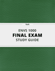 [ENVS 1000] - Final Exam Guide - Comprehensive Notes fot the exam (28 pages long!)