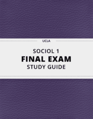 [SOCIOL 1] - Final Exam Guide - Comprehensive Notes fot the exam (72 pages long!)