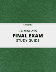 [COMM 215] - Final Exam Guide - Ultimate 61 pages long Study Guide!