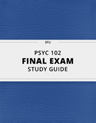 [PSYC 102] - Final Exam Guide - Everything you need to know! (91 pages long)