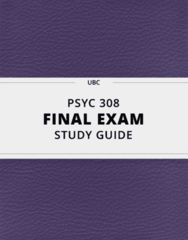 [PSYC 308] - Final Exam Guide - Everything you need to know! (95 pages long)