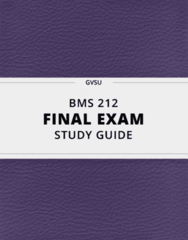 [BMS 212] - Final Exam Guide - Ultimate 24 pages long Study Guide!