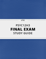 [PSYC12H3] - Final Exam Guide - Ultimate 108 pages long Study Guide!