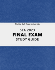 [STA 2023] - Final Exam Guide - Ultimate 63 pages long Study Guide!