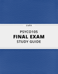 [PSYCO105] - Final Exam Guide - Comprehensive Notes fot the exam (59 pages long!)