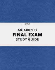 [MGAB02H3] - Final Exam Guide - Comprehensive Notes fot the exam (27 pages long!)