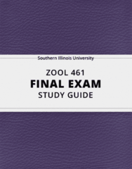 [ZOOL 461] - Final Exam Guide - Everything you need to know! (26 pages long)