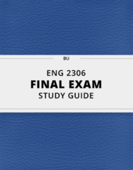 [ENG 2306] - Final Exam Guide - Everything you need to know! (26 pages long)