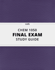 [CHEM 1050] - Final Exam Guide - Comprehensive Notes fot the exam (36 pages long!)