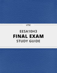 [EESA10H3] - Final Exam Guide - Ultimate 84 pages long Study Guide!