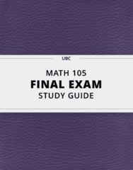 [MATH 105] - Final Exam Guide - Everything you need to know! (111 pages long)