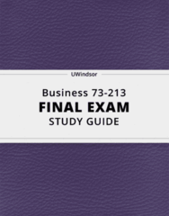 [Business 73-213] - Final Exam Guide - Everything you need to know! (28 pages long)
