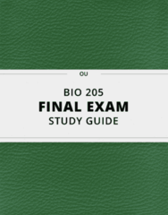 [BIO 205] - Final Exam Guide - Comprehensive Notes fot the exam (124 pages long!)