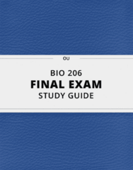 [BIO 206] - Final Exam Guide - Everything you need to know! (33 pages long)