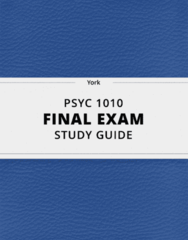 [PSYC 1010] - Final Exam Guide - Comprehensive Notes fot the exam (34 pages long!)