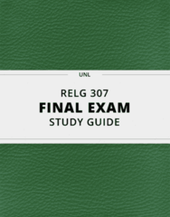 [RELG 307] - Final Exam Guide - Everything you need to know! (93 pages long)