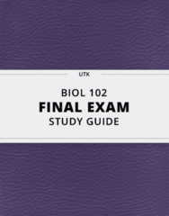 [BIOL 102] - Final Exam Guide - Everything you need to know! (51 pages long)