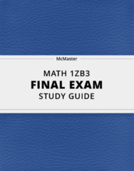 [MATH 1ZB3] - Final Exam Guide - Comprehensive Notes fot the exam (46 pages long!)