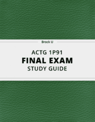 [ACTG 1P91] - Final Exam Guide - Everything you need to know! (53 pages long)
