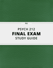 [PSYCH 212] - Final Exam Guide - Ultimate 75 pages long Study Guide!