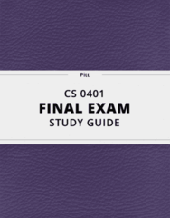 [CS 0401] - Final Exam Guide - Everything you need to know! (36 pages long)