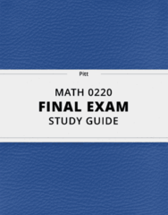 [MATH 0220] - Final Exam Guide - Everything you need to know! (101 pages long)