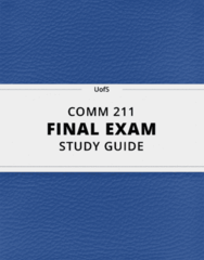 [COMM 211] - Final Exam Guide - Everything you need to know! (75 pages long)