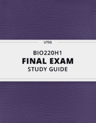 [BIO220H1] - Final Exam Guide - Comprehensive Notes fot the exam (65 pages long!)